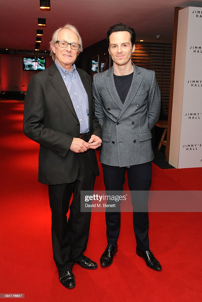 Ken Loach and Andrew Scott attends the UK Film Premiere of 'Jimmy's Hall' at BFI Southbank on May 28, 2014 in London, England.