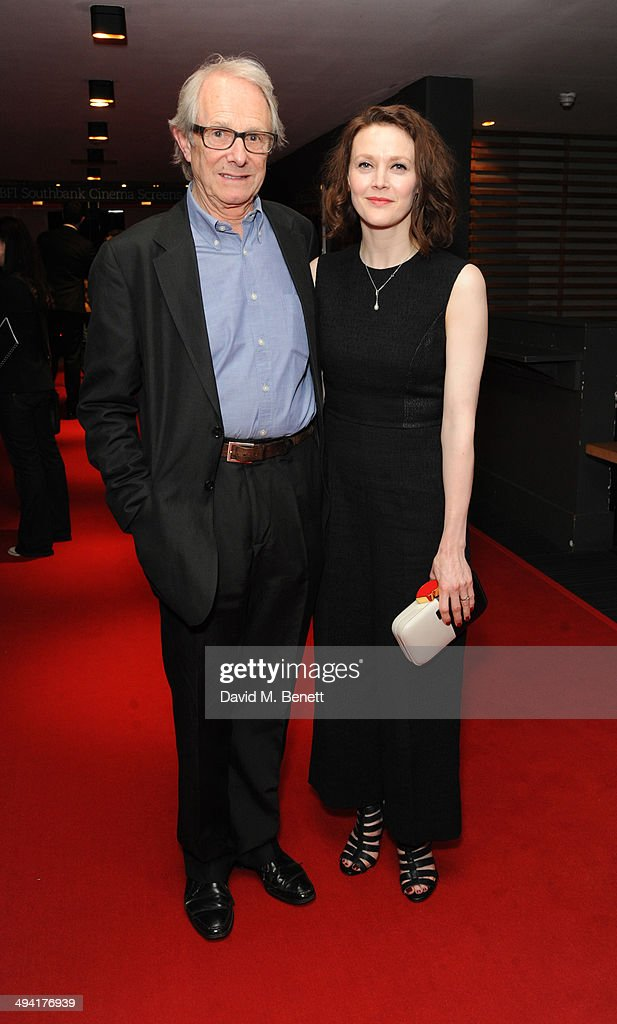 Ken Loach and Simone Kirby attends the UK Film Premiere of 'Jimmy's Hall' at BFI Southbank on May 28, 2014 in London, England.