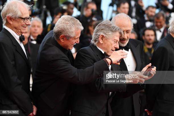 Ken Loach Claude Lelouch Roman Polanski and Jerry Schatzberg attends the 70th Anniversary of the 70th annual Cannes Film Festival at Palais des...