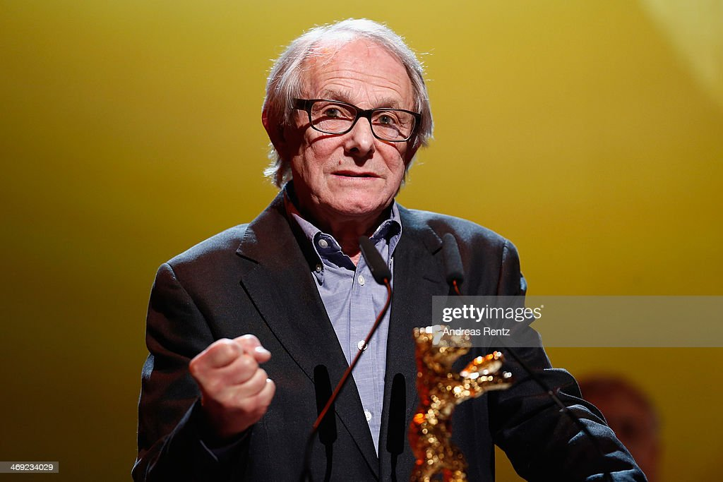 <a gi-track='captionPersonalityLinkClicked' href=/galleries/search?phrase=Ken+Loach&family=editorial&specificpeople=233467 ng-click='$event.stopPropagation()'>Ken Loach</a> receives his Honoray Golden Bear during the 64th Berlinale International Film Festival at Berlinale Palast on February 13, 2014 in Berlin, Germany.