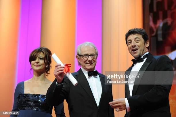Ken Loach receives the Jury Prize for 'The Angels' Share' onstage at the Closing Ceremony during the 65th Annual Cannes Film Festival on May 27 2012...