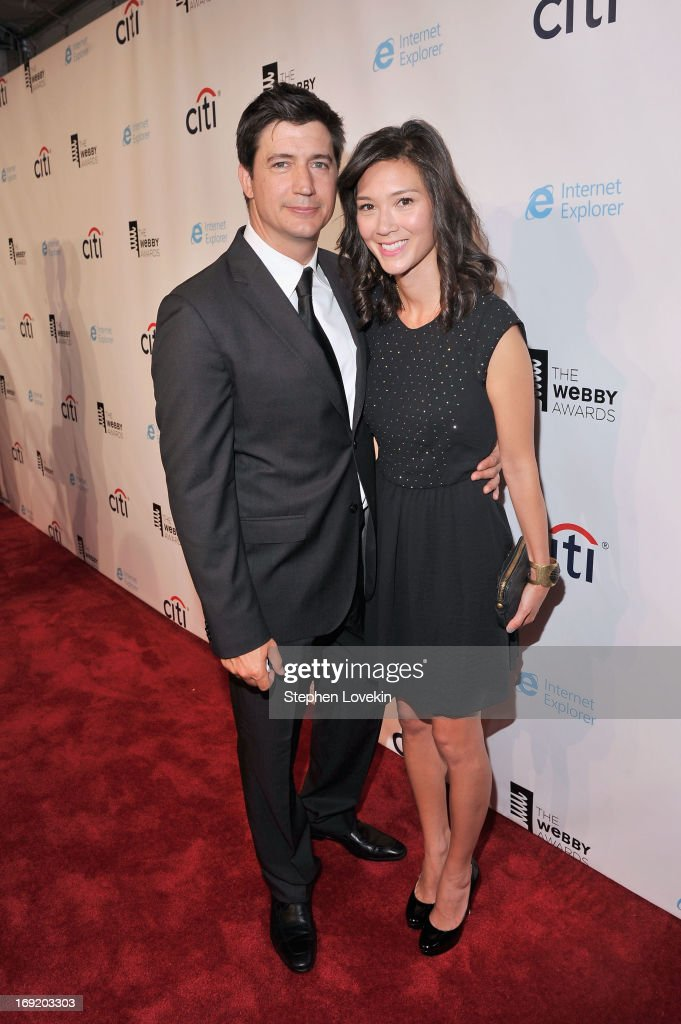 <a gi-track='captionPersonalityLinkClicked' href=/galleries/search?phrase=Ken+Marino&family=editorial&specificpeople=2979469 ng-click='$event.stopPropagation()'>Ken Marino</a> and Erica Oyama attend the 17th Annual Webby Awards at Cipriani Wall Street on May 21, 2013 in New York City.