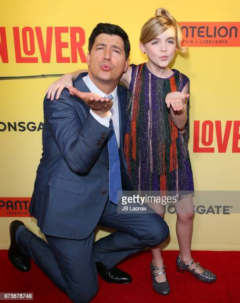 Ken Marino and Mckenna Grace attend the premiere of Pantelion Films' 'How To Be A Latin Lover' attends on April 26 2017 in Hollywood California