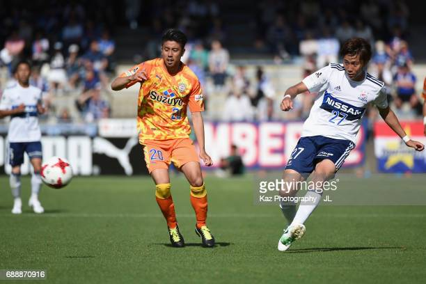 Ken Matsubara of Yokohama FMarinos in action during the JLeague J1 match between Shimizu SPulse and Yokohama FMarinos at IAI Stadium Nihondaira on...