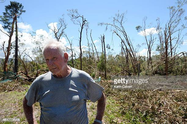 Ken McLachlan in the nursery paddock of his animal refuge property on February 23 2015 in Byfield Australia Ken and his partner Ivy Byrom have run...