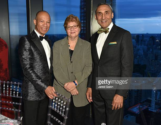 Ken McNeely Donna DeSalvo and Inder Dhillon attend Abstracted Black Tie Dinner Hosted by Pamela Joyner Fred Giuffrida and the Ogden Museum of...