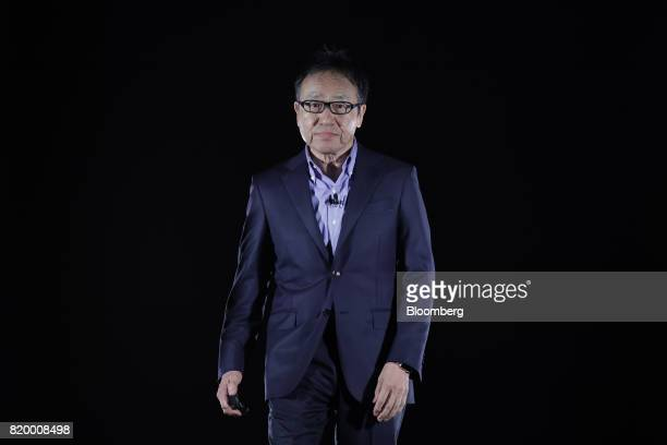 Ken Miyauchi president and chief executive officer of SoftBank Corp arrives to speak at the SoftBank World 2017 event in Tokyo Japan on Friday July...