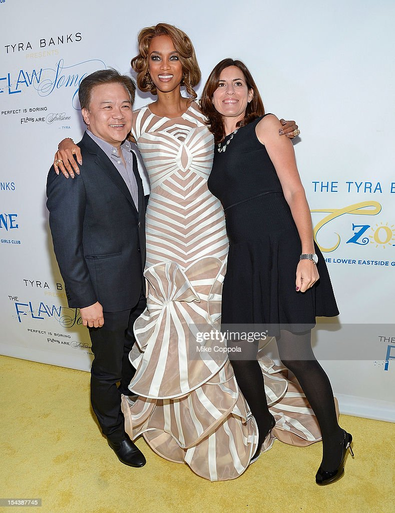 Ken Mok (L) and Tyra Banks attend The Flawsome Ball For The Tyra Banks TZONE at Capitale on October 18, 2012 in New York City.