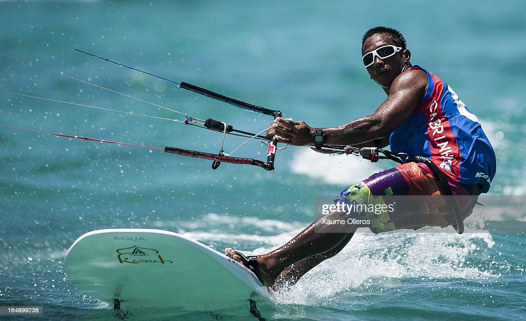 Ken Nacor of Philippines competes in Race board racing during day four of the KTA at Boracay Island on March 29, 2013 in Makati, Philippines.