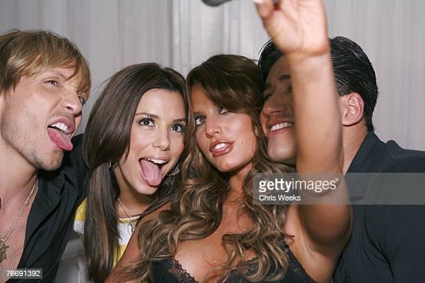 Ken Paves Eva Longoria Jessica Simpson and Mario Lopez