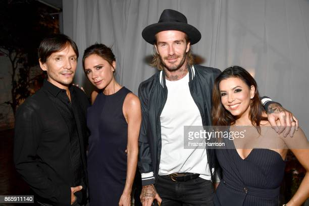 Ken Paves Victoria Beckham David Beckham and Eva Longoria at the grand opening of the new Ken Paves Salon hosted by Eva Longoria on October 23 2017...
