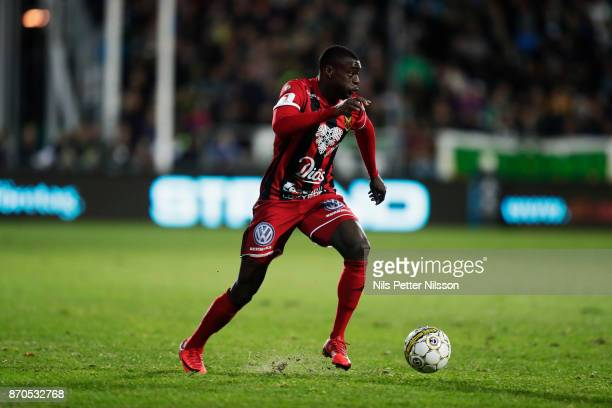 Ken Sema of Ostersunds FK during the Allsvenskan match between Jonkopings Sodra IF and Ostersunds FK at Stadsparksvallen on November 5 2017 in...