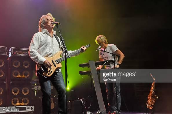Ken Sinnaeve and Doug Johnson of Loverboy perform in concert at the Cedar Park Center on October 22 2015 in Cedar Park Texas