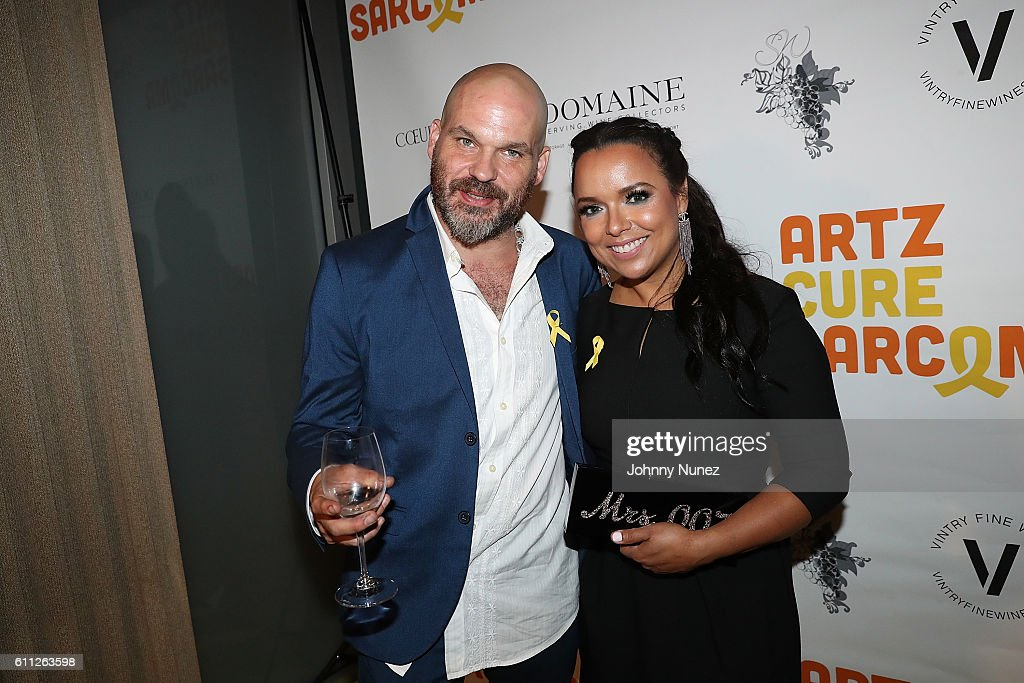 Ken Solomon and Zulema Arroyo attend 2nd Annual Artz Cure Sarcoma Benefit Auction at Corkbuzz Restaurant & Wine Bar on September 28, 2016 in New York City.