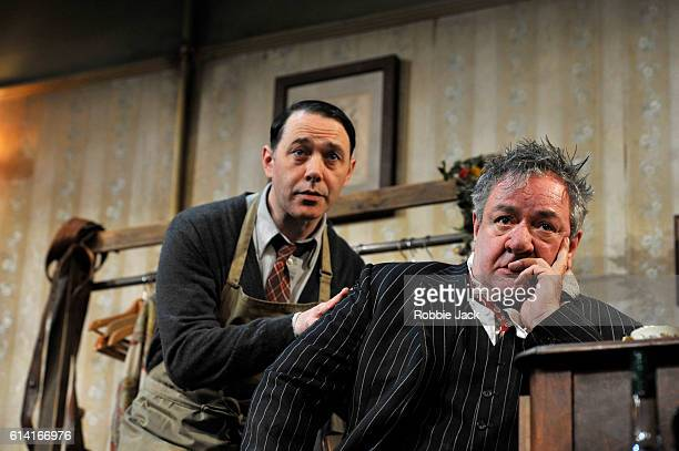 Ken Stott as Sir and Reece Shearsmith as Norman in Ronald Harwood's The Dresser directed by Sean Foley at the Duke Of Yorkís Theatre on October 10...