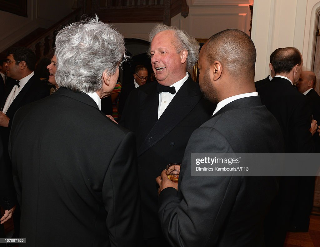 Ken Sunshine and Vanity Fair Editor Graydon Carter attend the Bloomberg & Vanity Fair cocktail reception following the 2013 WHCA Dinner at the residence of the French Ambassador on April 27, 2013 in Washington, DC.