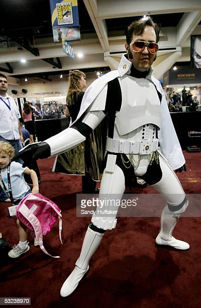 Ken Tarleton poses as Elvis Trooper at Comic Con International July 14 2005 in San Diego California Comic Con is the largest comic convention in the...