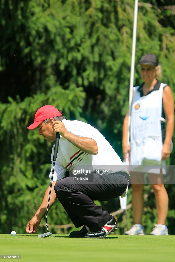 Ken Tarling of Canada in action during the the first round of the Swiss Seniors Open played at Golf Club Bad Ragaz on July 1, 2016 in Bad Ragaz, Switzerland.