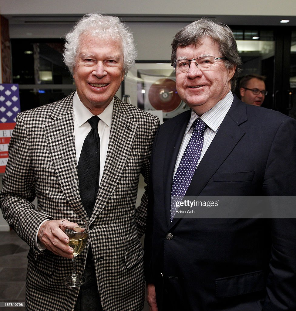 Ken Taylor former Canadian Ambassador and Ken Jones appear at the Merger Of The Century By Diane Francis Book Release Party on November 12 2013 in...