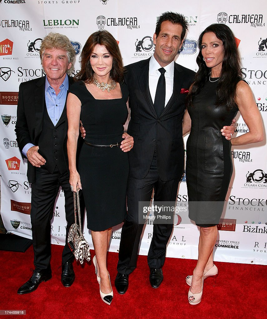Ken Todd, <a gi-track='captionPersonalityLinkClicked' href=/galleries/search?phrase=Lisa+Vanderpump&family=editorial&specificpeople=6834933 ng-click='$event.stopPropagation()'>Lisa Vanderpump</a>, David Gebbia and Carlton Gebbia arrive at the 40th Anniversary StockCross Party on July 25, 2013 in Beverly Hills, California.