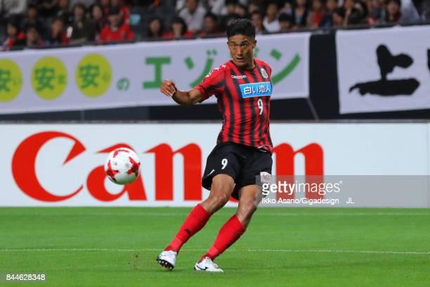 Ken Tokura of Consadole Sapporo in action during the JLeague J1 match between Consadole Sapporo and Jubilo Iwata at Sapporo Dome on September 9 2017...