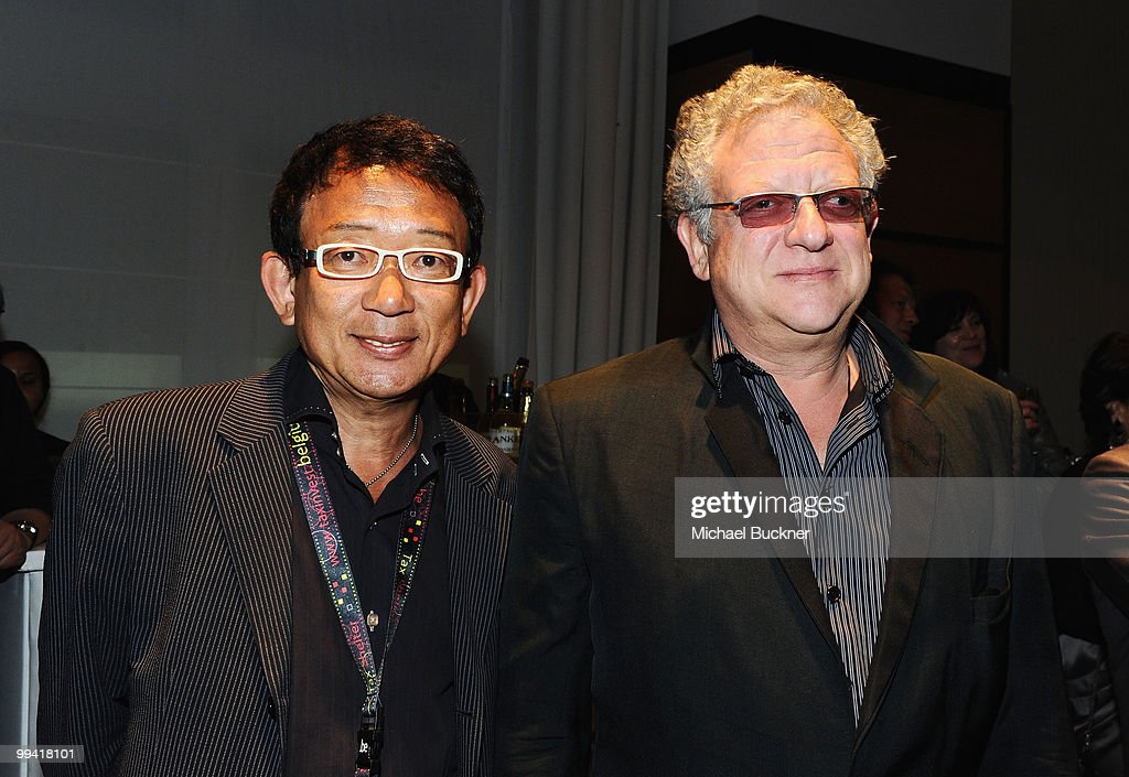 Ken Umehara of AVEX Entertainment and producer <a gi-track='captionPersonalityLinkClicked' href=/galleries/search?phrase=Jeremy+Thomas+-+Film+Producer&family=editorial&specificpeople=629756 ng-click='$event.stopPropagation()'>Jeremy Thomas</a> attend the Tokyo International Film Festival Cocktails at the Majestic Hotel during the 63rd Annual Cannes Film Festival on May 14, 2010 in Cannes, France.