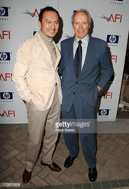 Ken Watanabe and Clint Eastwood during 2007 AFI Awards Luncheon Arrivals at Four Seasons in Beverly Hills California United States