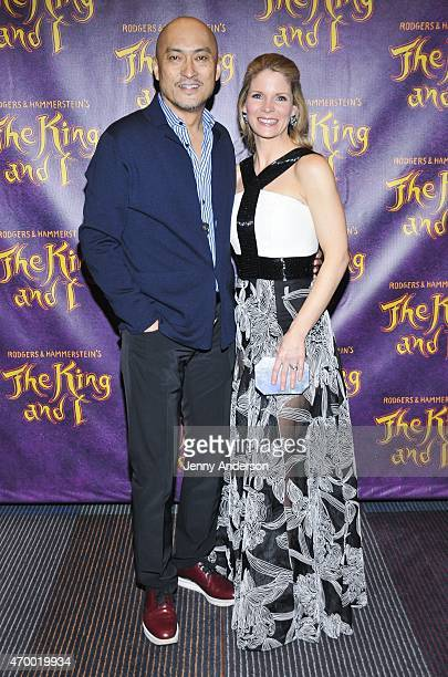 Ken Watanabe and Kelli O'Hara attend Broadway opening night of 'The King and I' at Vivian Beaumont Theatre on April 16 2015 in New York City