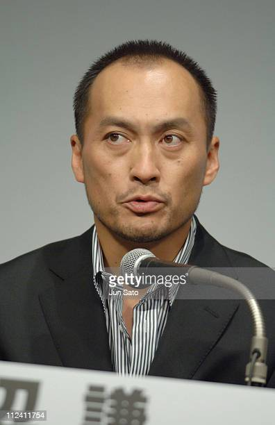 Ken Watanabe during 'Flags of Our Fathers' and 'Letters from Iwo Jima' Tokyo Press Conference with Clint Eastwood and Ken Watanabe at Grand Hyatt...