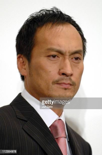Ken Watanabe during 'Letters from Iwo Jima' Opening Day Stage Greeting with Ken Watanabe at Marunouchi Piccadilly 1 in Tokyo Japan