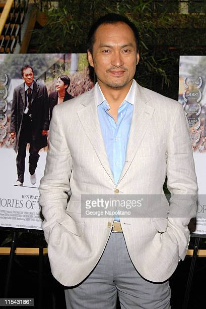 Ken Watanabe during Memories of Tomorrow New York Press Day at the Japan Society at Japan Society in New York City New York United States