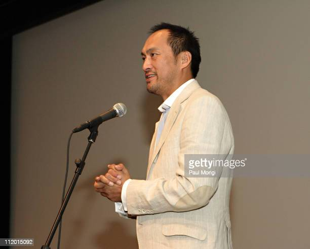 Ken Watanabe during 'Memories of Tomorrow' Washington DC Screening and QA at Meyer Auditorium at the Freer Gallery of Art in Washington DC United...