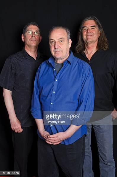 Ken Winokur Terry Donahue and Roger Miller pose for a portrait at the 2016 Ebertfest on April 15 2016 in Champaign Illinois