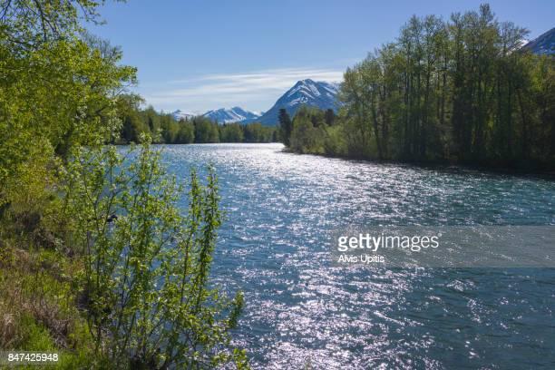 Kenai River on Kenai Peninsula Alaska