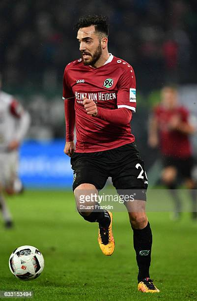 Kenan Karaman of Hannover iin action during the Second Bundesliga match between Hannover 96 and 1 FC Kaiserslautern at HDIArena on January 30 2017 in...