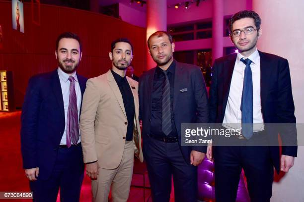 Kenan Rahmani Riz Ahmed Raed Saleh and Farooq attend the 2017 TIME 100 Gala at Jazz at Lincoln Center on April 25 2017 in New York City