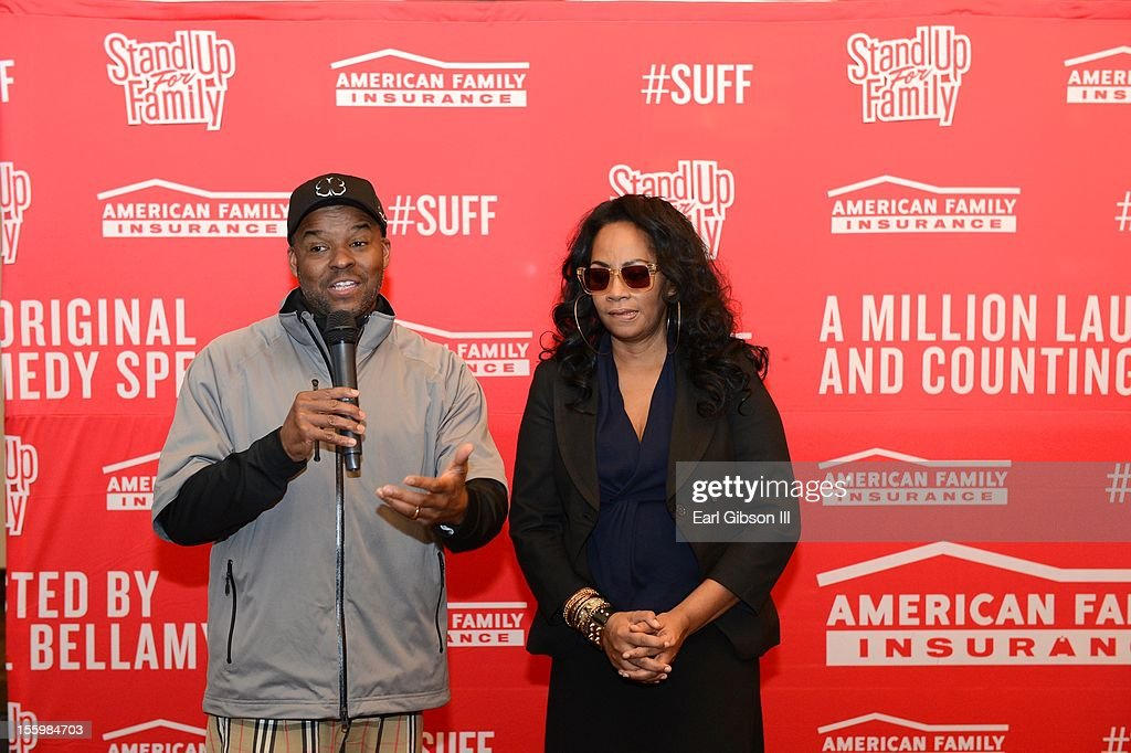 Kenard Gibbs and Jody Watley speak at the First Annual Soul Train Celebrity Golf Invitational on November 9, 2012 in Las Vegas, Nevada.