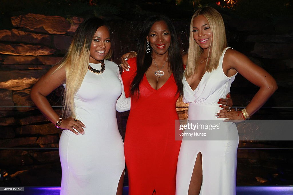 Kenashia 'Shia' Douglas Tina Douglas and Ashanti attends Tina's Forever Young Birthday Extravaganza at Crest Hollow Country Club on July 12 2014 in...