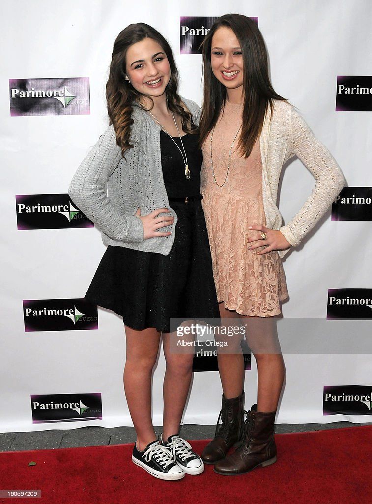 Kendal Knauff and Marissa Williams arrive for the All Ages Valentine Bash 2013 held at Infusion Lounge on February 2, 2013 in Universal City, California.