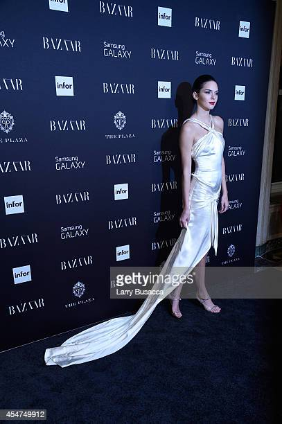 Kendall attends Moet Chandon and Belvedere Vodka Toast to Harper's Bazaar Icons at The Plaza Hotel on September 5 2014 in New York City