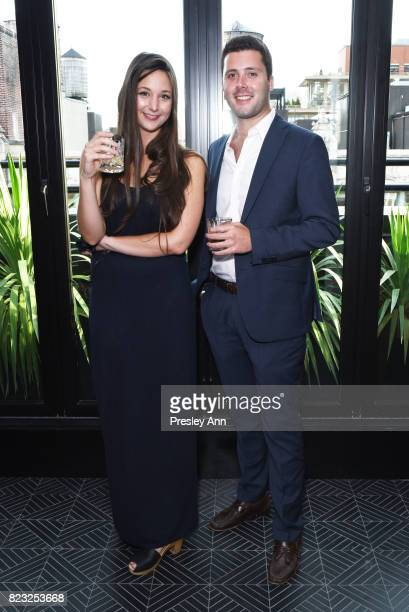Kendall Fleisher and Steven Cohen attend as Fortuna Realty Group opens Sir Henri New York City's first penthouse speakeasy on July 26 2017 in New...