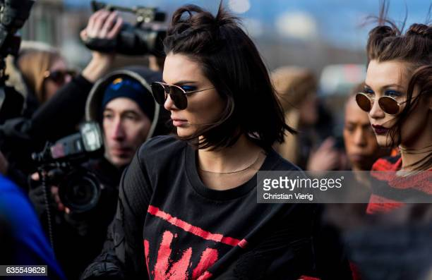 Kendall Jenner and Bella Hadid outside Anna Sui on February 15 2017 in New York City