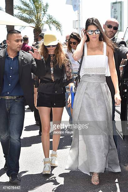 Kendall Jenner and Cara Delevingne are see on day 8 of the 68th annual Cannes Film Festival on May 20 2015 in Cannes France