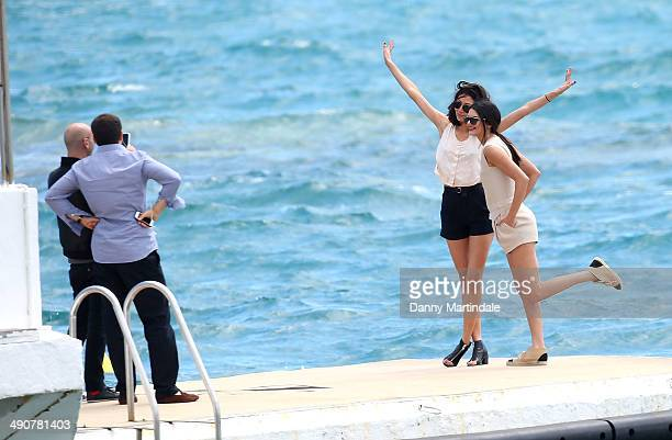 Kendall Jenner and friends are seen on the Martinez beach on day 2 of the 67th Annual Cannes Film Festival on May 15 2014 in Cannes France