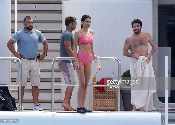 Kendall Jenner and friends spotted during the 70th annual Cannes Film Festival at on May 23 2017 in Cannes France