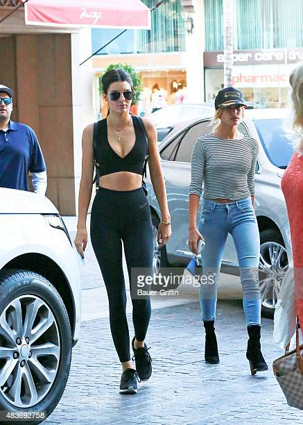 Kendall Jenner and Hailey Baldwin are seen on August 11 2015 in Los Angeles California