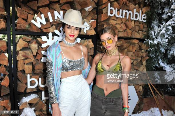 Kendall Jenner and Hailey Baldwin attend Winter Bumbleland Day 1 on April 15 2017 in Rancho Mirage California
