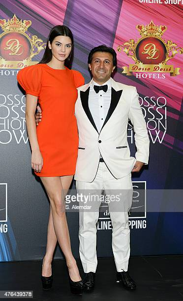Kendall Jenner and Hikmet Eraslan attend the press conference after the Dosso Dossi Fashion Show on June 9 2015 in Antalya Turkey
