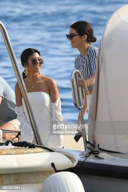 Kendall Jenner and Kourtney Kardashian are spotted during the 70th annual Cannes Film Festival at on May 23 2017 in Cannes France