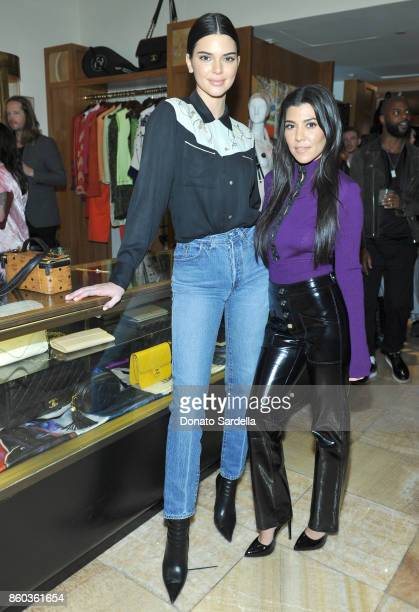 Kendall Jenner and Kourtney Kardashian at What Goes Around Comes Around Beverly Hills Anniversary on October 11 2017 in Beverly Hills California